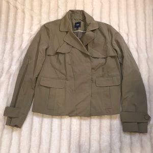Gap short trench coat jacket, size small